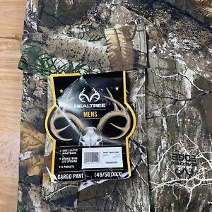 REALTREE MEN'S EDGE CAMO CARGO HUNTING PANTS SIZE XXXL(48-50) NWT DRAWCORD ANKLE