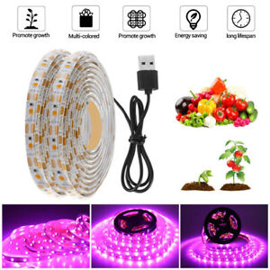 5M LED Grow Light Strip Pflanzenlampe Streifen Wachstumslampe Gemüse Lichtbalken