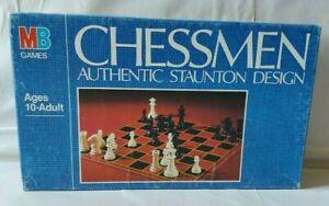 Milton Bradley MB Chessmen - Authentic Staunton Design - 1982 Complete!