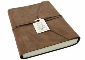 Viaggio Recycled Leather Journal Tan, A5 Plain Pages - Handmade in Italy