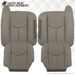 2003 2004 2005 2006 2007 GMC Sierra and Yukon Leather Seat Covers Light Gray-922