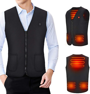 Heated Vest Electric Jacket for Men and Women, USB Body Warmer Washable Heat Up