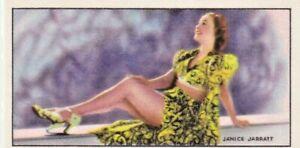 JANICE  JARRATT-godfrey phillips HOLLYWOOD starl PIN-UP/CHEESECAKE 1940 cig card