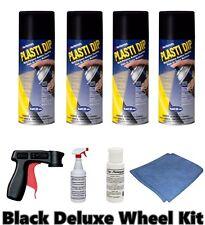 Performix Plasti Dip Matte Black Deluxe Wheel Kit 4 Cans FREE S/H Spray Trigger