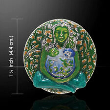 Oberon Zell Gaia Mother Earth .925 Sterling Silver Pin by Peter Stone