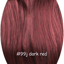 Real Remy Human Hair Clip In Hair Extensions 14''-30'' STOCK FULL HEAD 70G-160G