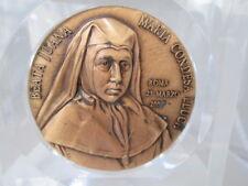 Medalla Beata Juana María Condesa Lluch. 2003. Bronce / metacrilato. Esclavas