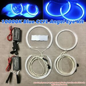 10000K BLUE CCFL Angel Eye Halo Ring Kit For 98-05 E46 Sedan With Projector HL