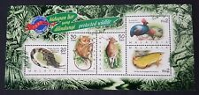 1997 Malaysia Wildlife Animals Bird Fish Crocodile Deer Stamp Week Mini-Sheet