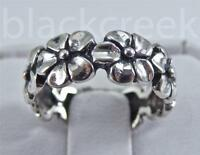 925 Sterling Silver ~ Plumeria Band / Ring ~ Choose Size