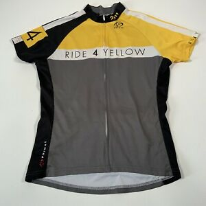Primal Ride 4 Yellow Livestrong Short Sleeve Cycling Jersey - Womens Large