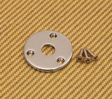 RMJP-C Round Jack Plate For Guitar/ Bass w/Screws - Chrome