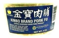 Kimbo Brand Pork Fu Cooked Shredded Dried Pork Product 4 oz ( Pack of 4 )