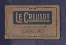 Album Souvenir Le Creusot. 18 vues des Usines Schneider & Cie. Edt P.Roussaud