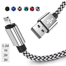2m 3m Braided USB Charge Charger Cable For iPhone 6 6S 7 8 Plus X Lightning Lead