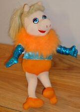 "Miss Piggy Doll 10"" stuffed plush by Nanco Sesame Street Muppet blue dress heels"
