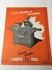 Landis Tool Precision Grinders 12 28 Machine Shop Brochure Catalog Advert K 45