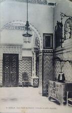 ANTIGUA POSTAL SEVILLA GRAN HOTEL DE MADRID ENTRADA PATIO ANDALUCIA CC3848