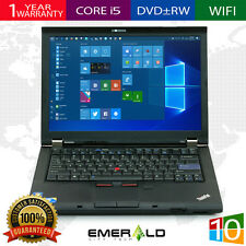 IBM LENOVO THINKPAD T410 LAPTOP WINDOWS 10 DVDRW Core i5 2.66Ghz 320GB 4GB HD