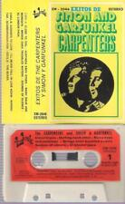 SIMON AND GARFUNKEL CARPENTERS Exitos RARE SPANISH CASSETTE SPAIN 1976 PAPER LAB