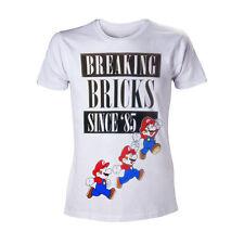 Nintendo White Breaking Bricks Mario's T-Shirt Unisex Size Taille XL