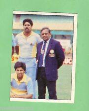 1985 SCANLENS CRICKET STICKER #91  THE INDIAN TEAM
