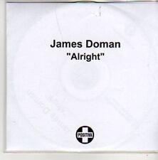 (AK904) James Doman, Alright - DJ CD