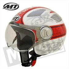Jethelm Helm MT Helmets Urban, S, Rot-Weiß, Lüftungsgitter
