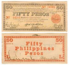50 Pesos NEGROS Philippine 1943 Treasury Cert SIGNED WW2 Note Banknote