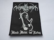NARGAROTH BLACK METAL IST KRIEG EMBROIDERED BLACK METAL PATCH