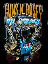GUNS N ROSES CONCERT T SHIRT Las Vegas APPETITE FOR DEMOCRACY Destruction SMALL