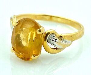 Ring Gold 18 Carat 2,18G - Citrine