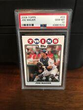2008 Topps Joe Mauer Twins Baseball Card #33 PSA 10 Gem Mint