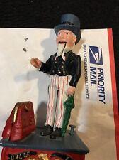 Antique Vintage Cast Iron Uncle Sam Mechanical Bank
