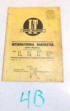 International Harvester A B C Mta H M Cub Md Mtad Tractor I&T Shop Manual Ih-8