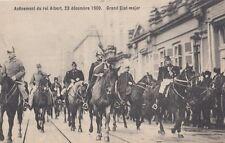 FOREIGN ROYALTY :1909 BELGIUM-Accession of KIng Albert -Grand Etat-major