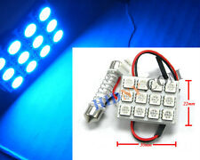 Fit All 31mm 36mm 39mm Dome 24-SMD 5050 LED W/ T10 & Universal Dome Adapter BLUE