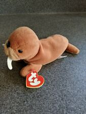 Tusk Ty Beanie Babies, First Generation Tush And Third Generation Heart Tag