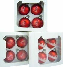 Décorations de sapin de Noël rouge sans marque noël