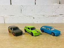 VW Volkswagen Brasilia Hot Wheels Lot 2013 Olive Green 2012 Lime 2011 Blue