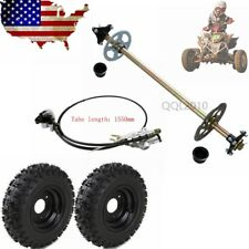 "Complete Rear Axle Kits +4.10-6 6"" Wheel Rim Hub + Brake Assembly fit Buggy Kart"