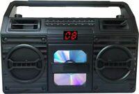 Bluetooth Retro Sylvania CD Player AM/FM Radio Boombox AUX-IN LED Display