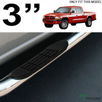 "Topline For 00-04 Dodge Dakota Quad/Crew 3"" Side Step Nerf Bars HD - Stainless"