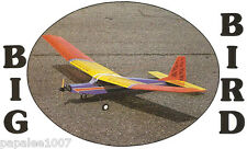 "Model Airplane Plans (RC): BIG BIRD 84"" 3-Chan. Sport/Trainer (magazine article)"