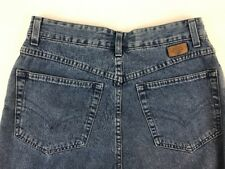 Les Copains Size 46 Women Jeans Flannel Tapered 90's Denim High Waist Mom Italy