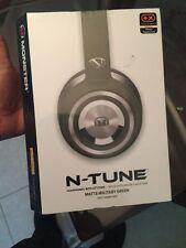 Monster N-Tune Headphones Military Green Brand New Sealed!