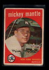 1959 TOPPS #10 MICKEY MANTLE VG F1822