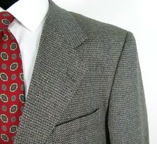 Jeffrey Banks Blazer 44R Wool Silk All Season Basket Weave Jacket 3Btn NWOT