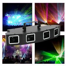 NEU RGB 4 Lens 4 Beam DJ Laser Light Party Show DMX512 Disco KTV Bühnen Licht