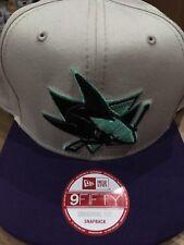 New Era San Jose Sharks Original Snapback In Cream/Black/Turquoise And Purple